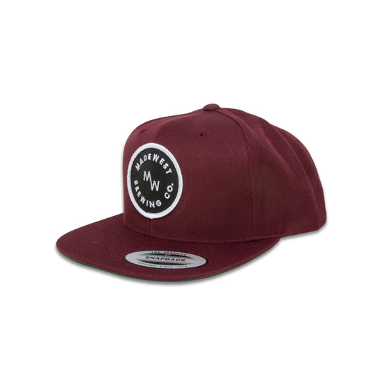 Circle Patch Hat - Maroon - Hat - MadeWest Brewery