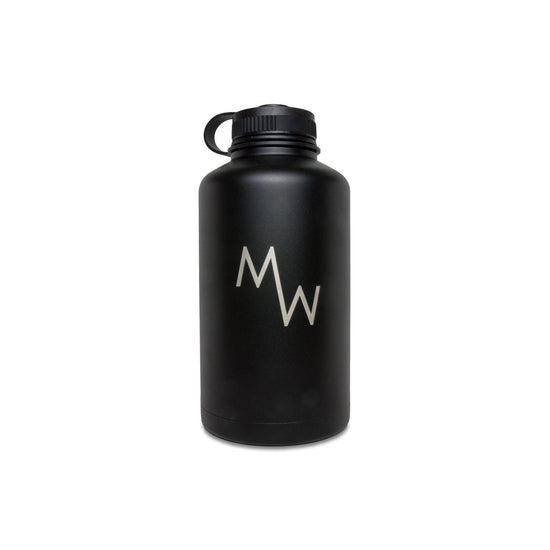 64oz Growler - Black - Drinkware - MadeWest Brewery