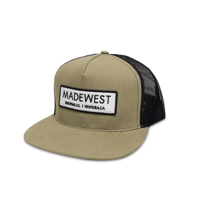 Canvas Trucker Hat - Khaki - Hat - MadeWest Brewery