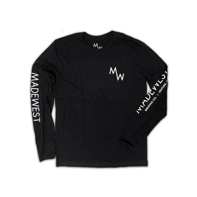 Classic Long Sleeve Tee - Black - Men's T-Shirt - MadeWest Brewery