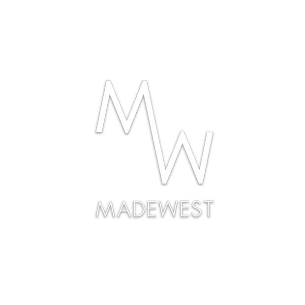 MadeWest Die Cut Sticker - White