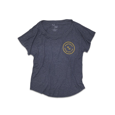 Women's - Dolman Tee - Vintage Navy - Womens T-Shirt - MadeWest Brewery
