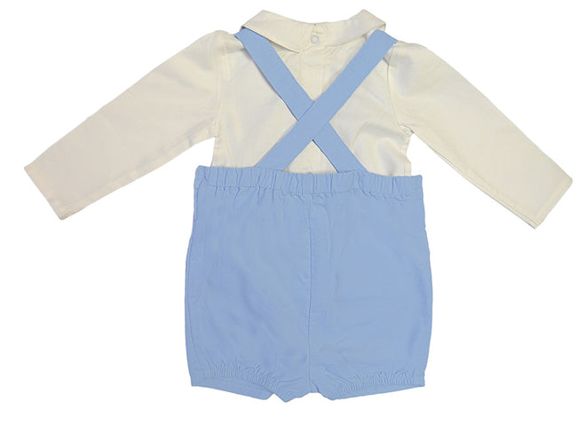 Baby Boy Hand Smocked Dungaree Set