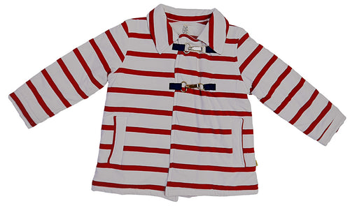 Girls Stripped Jacket Red