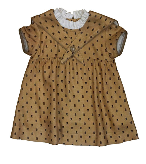 Baby Brown Dress Skulls