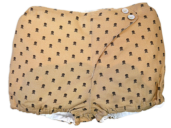 Girls Brown Bloomer Little Skulls