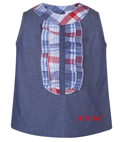 Little Girl Navy Blue Blouse