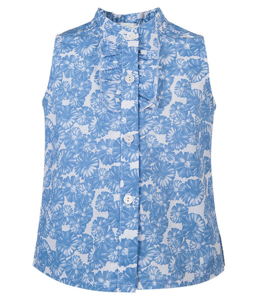 Little Girl Blue Blouse