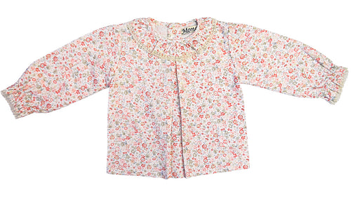Baby Floral Pleat Blouse