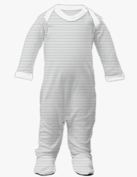 Plain Front Sleepsuit - Stripe