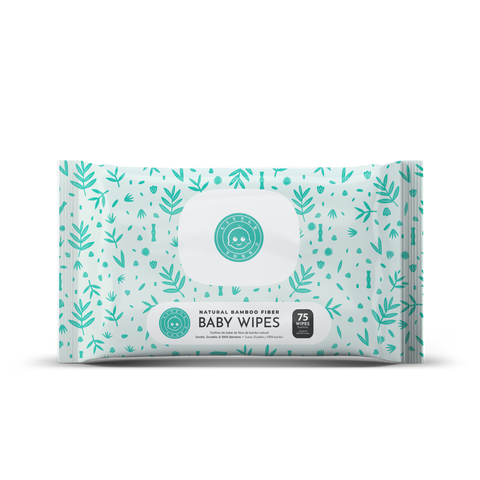 Natural bamboo fiber wipes - 75