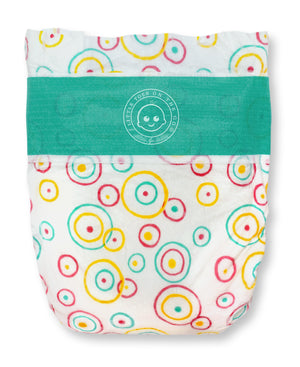 Lotta Poop | 3 Complete Diaper Change Sets | Size Small | Fabric Case (8-17 lbs)