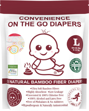 Little Toes Convenience On The Go 3x Diapers | Size Large (20-29 lbs)
