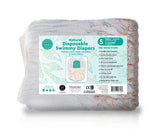 Little Toes Natural Disposable Swimmy Diapers - 12 count small size pack