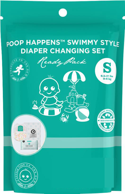 Poop Happens | One Complete Diaper Change Set | Size Small (8-17 lbs)