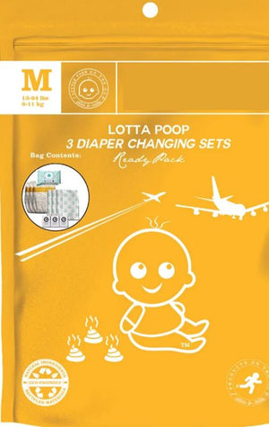 Lotta Poop VB | 3 Complete Diaper Change Sets | Size Medium (13-24 lbs)