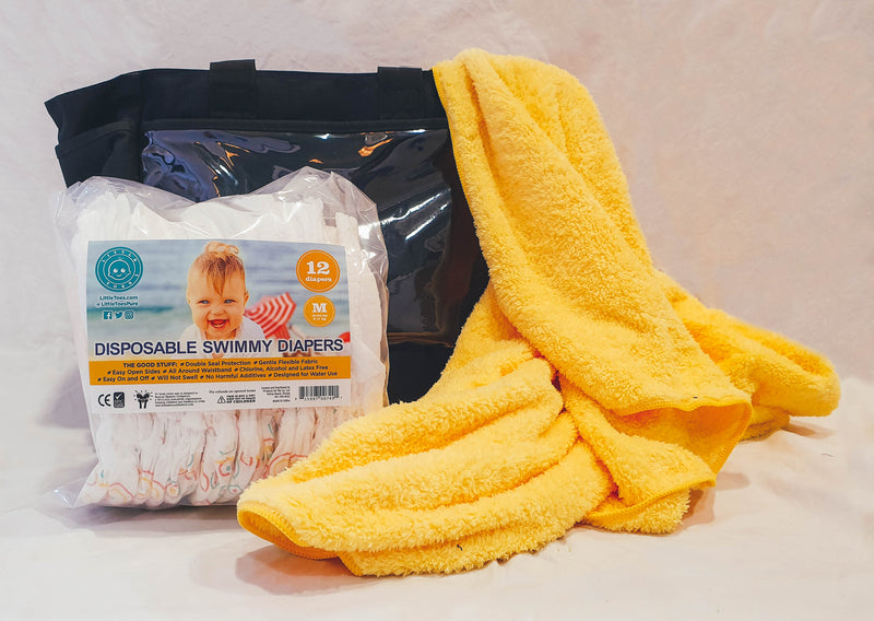 Little Toes Swimmy Bundle with Swim Diapers 12 Pack