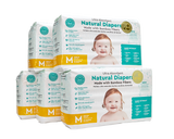 Little Toes Disposable Biodegradable Bamboo Diapers Monthly Value Pack (180 Count) Size - Medium or Large