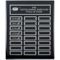 Ebony Piano Finish Perpetual Plaque with Platinum Accents