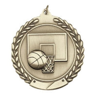 Wreath Basketball Medal