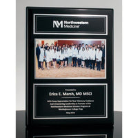 Executive Photo Plaque Ebony with Silver
