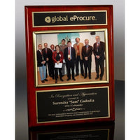 Executive Photo Plaque Rosewood with Gold