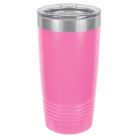 Pink 20 oz Tumbler with Lid
