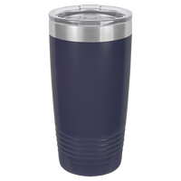 Navy Blue 20 oz Tumbler with Lid