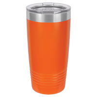 Orange 20 oz Tumbler with Lid