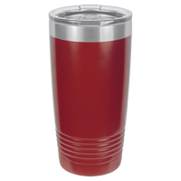Maroon 20 oz Tumbler with Lid