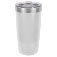 White 20 oz Tumbler with Lid