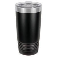 Black 20 oz Tumbler with Lid