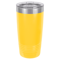Yellow 20 oz Tumbler with Lid