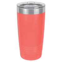 Coral 20 oz Tumbler with Lid