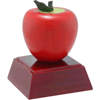 Apple Painted Resin Trophy
