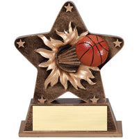 Basketball Starburst Sport Resin Trophy