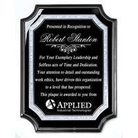 The Carlisle Plaque Ebony with Silver Accent