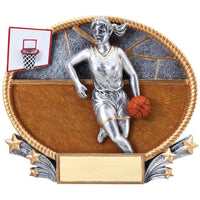Driving Down The Court! Basketball Resin - Female