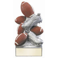 Football Cast 3-D Color Sports Bank Trophy