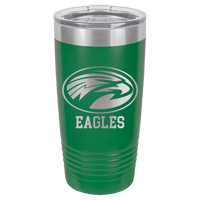 Green 20 oz Tumbler with Lid