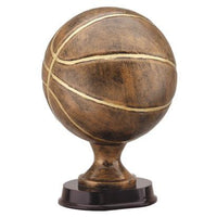 Bronze Basketball with Brushed Gold Trim