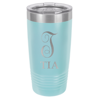 Light Blue 20 oz Tumbler with Lid