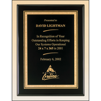 Tuxedo Night Gold Plaque