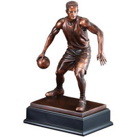 Bronze Electroplate Basketball Male Statue