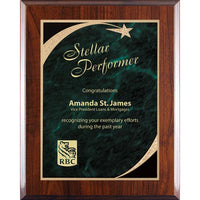 Shooting Star Plaque Green