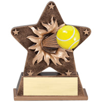 Starburst Tennis Resin Trophy