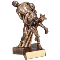 Large Superstar Wrestling Resin Trophy
