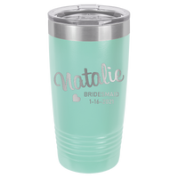 Teal 20 oz Tumbler with Lid