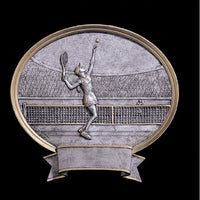 Tennis Oval Plate Award