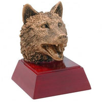 Wolf Resin Trophy